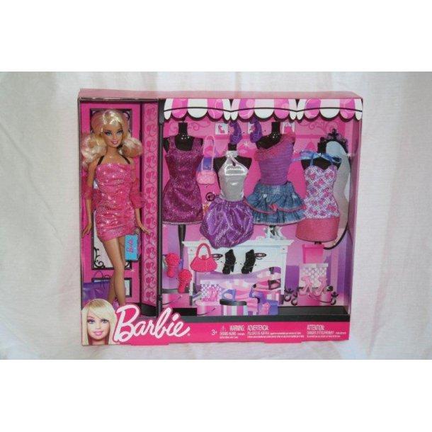 Barbie med tøj